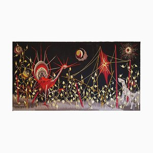 Handgewebter Wandteppich von Marc Petit für Aubusson, 1960er