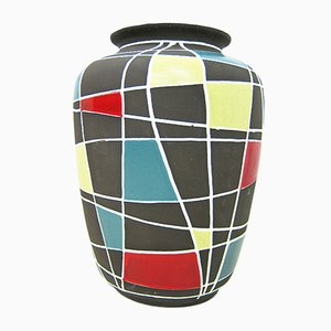 Jarrón de suelo Kuba nº 103/40 vintage de Schlossberg Keramik