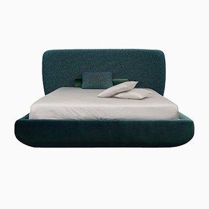 Teal Jacquard Wool & Velvet Bed by Daniel Nikolovski & Danu Chirinciuc for KABINET, 2019