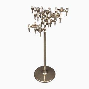Großer deutscher modularer Kerzenständer aus verchromtem Eisen von BMF, 1970er