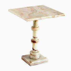 Vintage Italian Onyx Pedestal Table, 1970s