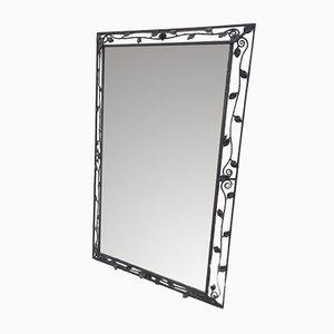 Art Deco Spiegel aus Schmiedeeisen, 1940er