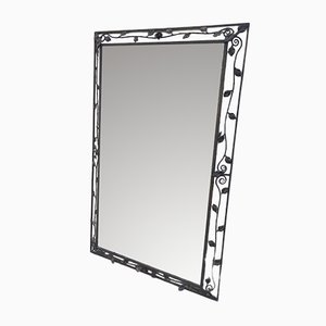 Espejo Art Déco de hierro forjado, años 40