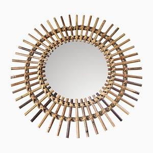 Specchio Mid-Century a forma di sole, Francia, anni '50