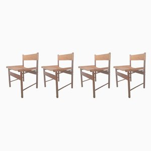 Rosewood & Jacaranda Dining Chairs by Jorge Zalszupin for Atelier A, 1950s, Set of 4