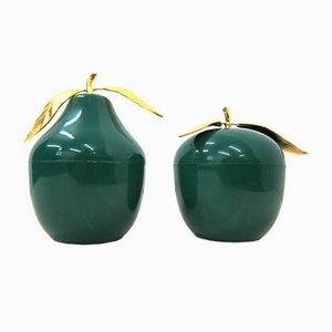 Cubiteras Turnwald collection en forma de pera y manzana vintage de Hans Turnwald. Juego de 2