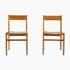 French Mahogany Dining Chairs by André Sornay, 1960s, Set of 2