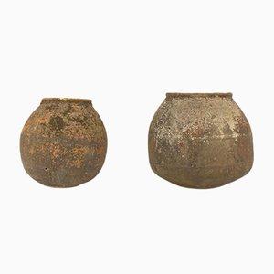Steingut aus Terrakotta, 19. Jh., 2er Set