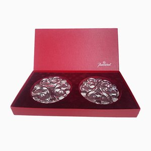 Crystal Coasters from Baccarat, 1970s, Set of 2