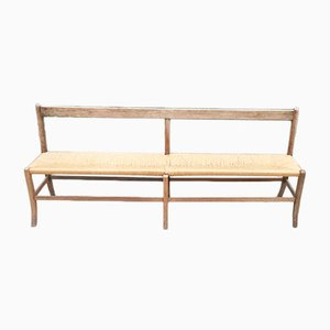 Vintage French Wooden Bench, 1930s