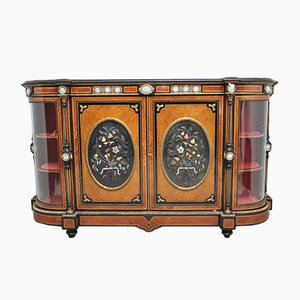 Antique Ebonized Wooden Cabinet