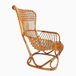Italienischer Armlehnstuhl aus Bambus von Tito Agnoli für Vittorio Bonacina, 1959