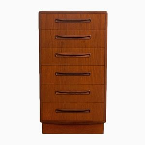 Mid-Century Teak Chest of 6 Drawers from G-Plan, 1960s