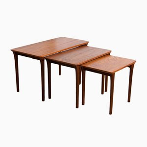 Mid-Century Rosewood Nesting Tables, 1960s
