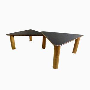 Large Vintage Industrial Melamine Adjustable Dining Table, 1980s