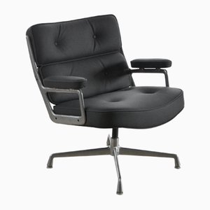 Leather Lobby Flesh Lounge Chair by Charles & Ray Eames for Herman Miller, 1960s