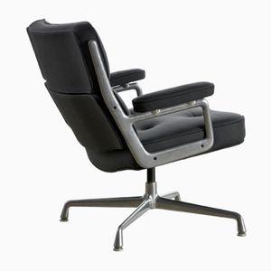 Sedie Lobby in pelle di Charles & Ray Eames per Herman Miller, anni '60, set di 2