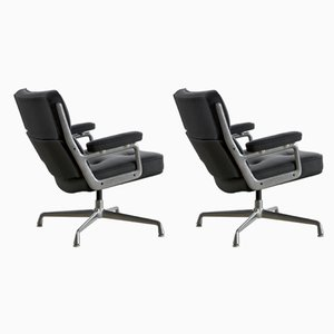 Leather Lobby Chairs by Charles & Ray Eames for Herman Miller, 1960s, Set of 2