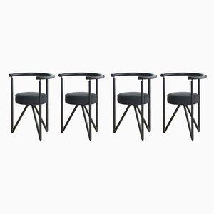 Miss Dorn Esszimmerstühle aus Metall von Philippe Starck, 1982, 4er Set