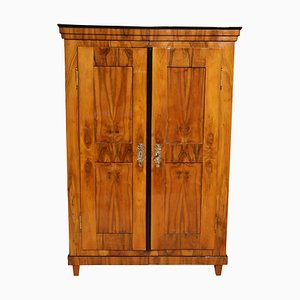 German Biedermeier Walnut Veneer Armoire, 1820s