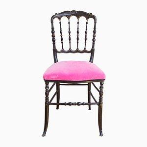 Antiker Chiavari Stuhl aus Holz in Schwarz & Gold