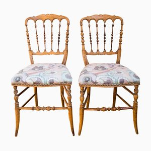 Vintage Wooden Chairs, Set of 2