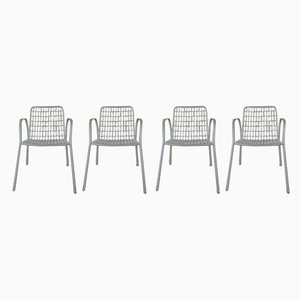 Italian Iron Rio Garden Chairs from Emu, 1960s, Set of 4