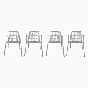 Italienische Rio Gartenstühle aus Eisen von Emu, 1960er, 4er Set