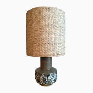 Lámpara de mesa alemana Mid-Century de latón y cerámica, años 60