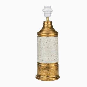 Lampada da tavolo dorata di Bitossi, anni '60