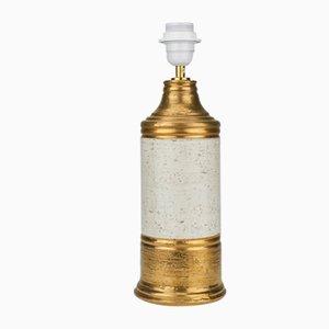 Lampe de Bureau Dorée de Bitossi, 1960s