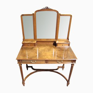 Burr Walnut Dressing Table, 1900s