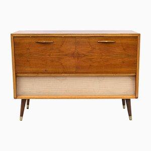 Mueble vintage con equipo de música, años 60