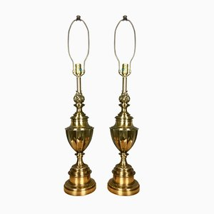 Brass Table Lamps from Stiffel, 1950s, Set of 2