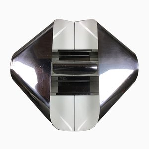 Applique moderna in metallo cromato di Harvey Guzzini per Guzzini, Italia, anni '60