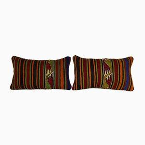 Fundas para almohadas hechas con kilim tejido a mano de Vintage Pillow Store Contemporary. Juego de 2