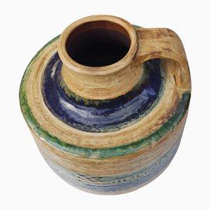 Vaso da terra in ceramica fatto a mano di Glatzle Fridegard per Karlsruher Majolika, Germania, anni '60