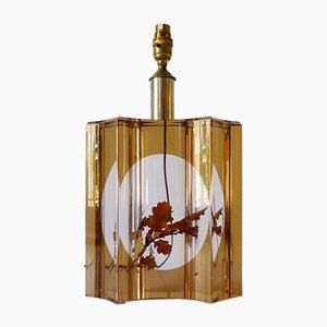 Lampe de Bureau avec Feuille en Résine Moulée par Pierre Giraudon, 1970s