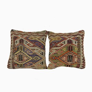 Turkish Wool Kilim Pillow Cover from Vintage Pillow Store Contemporary, Set of 2