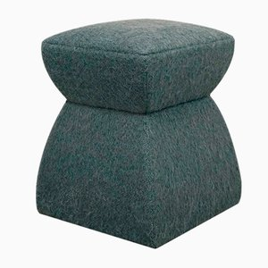 Green Mohair Cusi Pouf from KABINET