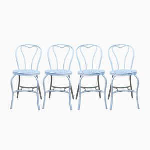 Vintage Art Deco Iron Garden Chairs, 1930s, Set of 4