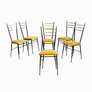 Italienische Vintage Stühle, 6er Set