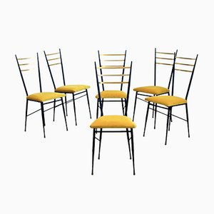 Vintage Italian Chairs, Set of 6