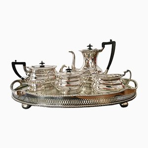 Set da tavola in bachelite e argento, anni '50, set di