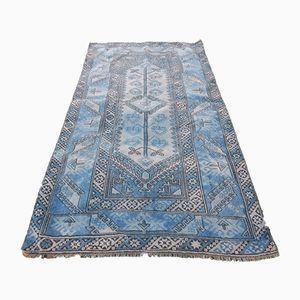 Vintage Pastel Blue Oushak Rug, 1970s