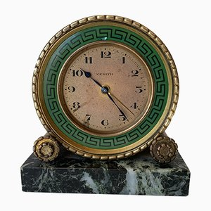 Art Deco French Clock from Zenith, 1920s