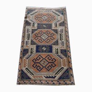 Tappeto da corridoio in lana, Turchia, anni '60