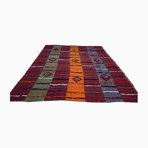 Vintage Turkish Colorful Wool Kilim Rug, 1970s