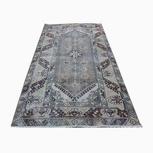 Geometrischer Mid-Century Oushak Teppich