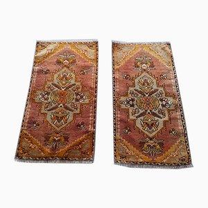 Handmade Distressed Oushak Rugs, 1960s, Set of 2